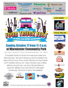 CLICK HERE for Food Truck Fest & Car Show Flyer and Information
